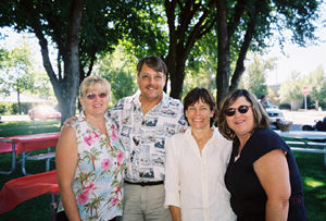 Phil and Cynthia Sander, Anne and Pamela