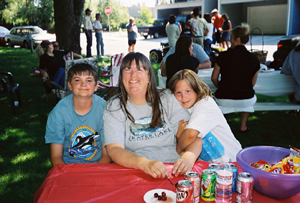 Janet White Kirsch and kids