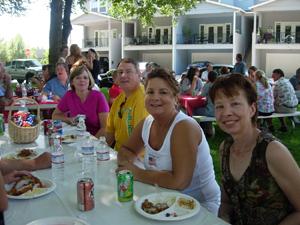 Ilean, Annette, Jim, Susan, and Gina (Portwood) Rosecrans