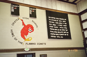 Inside the Crater High  new gym