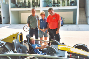 Tom, Michelle, Reg, and Mario Andretti