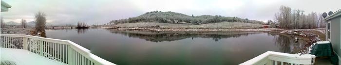 Rocky and Janel pond parorama winter